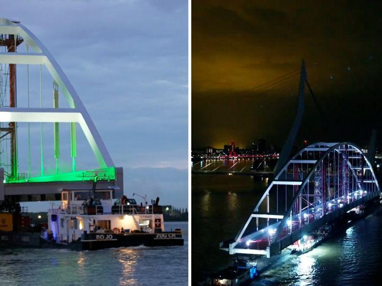 Spectaculair: 200 meter lange brug vaart richting de Maasvlakte