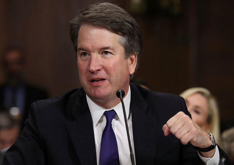 Kavanaugh getuigt voor de senaat. Beeld AP