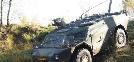 Leger oefent met Fennek-voertuigen in de regio