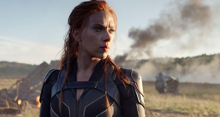 Scarlett Johansson als Black Widow in de gelijknamige blockbuster. Beeld AP
