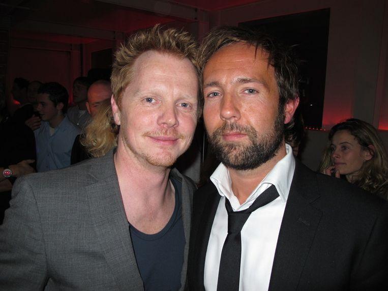 Dit zijn Playboy-boys: art director Patrick van Dam en chef redactie Marcel Langedijk (r).<br /> Beeld