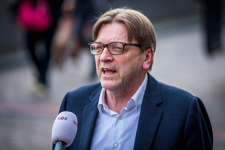 Guy Verhofstadt is voor het Europees Parlement de ideale kandidaat om de Conferentie over de Toekomst van Europa te gaan leiden. De lidstaten pleiten voor een gematigder kandidaat: de Deense sociaaldemocratische oud-premier Helle Thorning-Schmidt. Beeld Hollandse Hoogte /  ANP