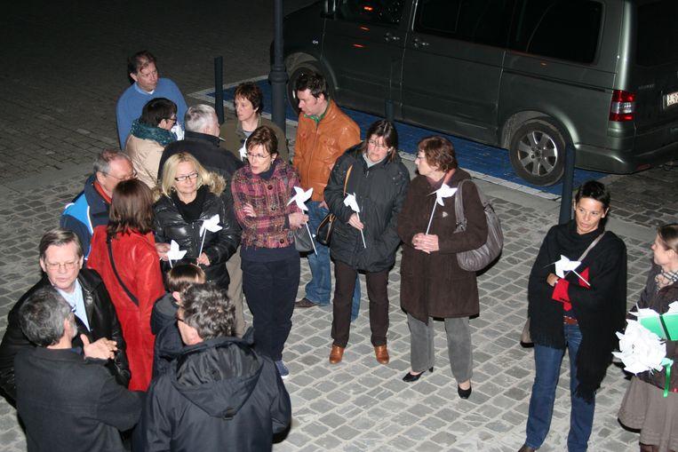 Actievoerders tegen de windmolens in 2011