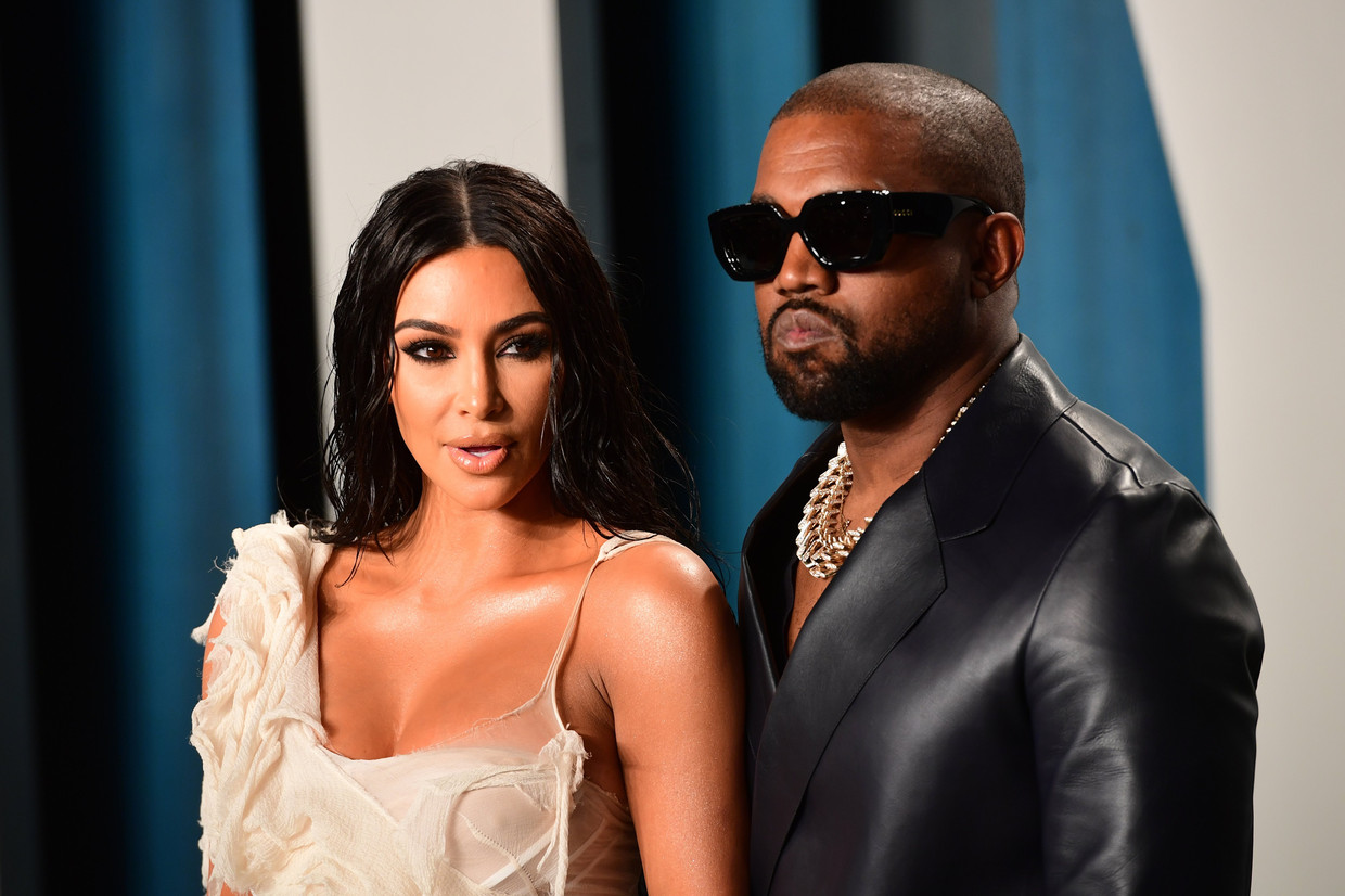 Kim Kardashian en Kanye West. Beeld Photo News