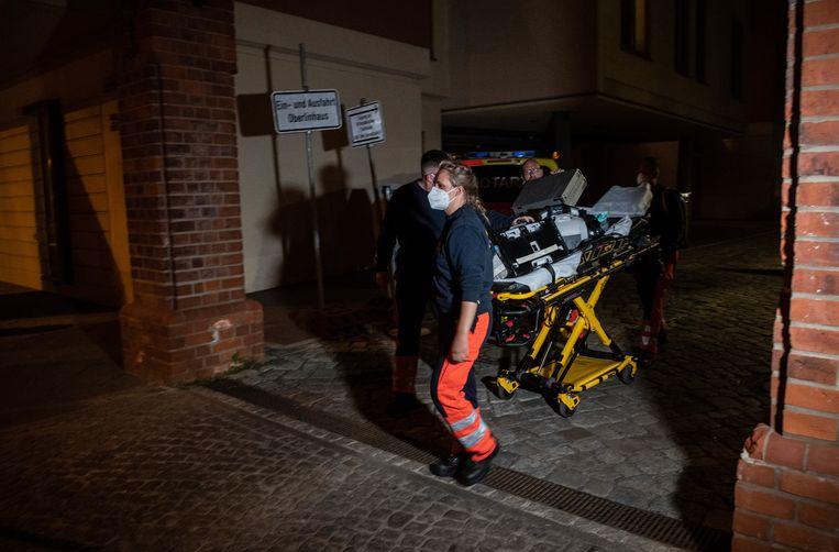 De doden en de gewonde werden in verschillende ziekenhuiskamers op een afdeling gevonden. Beeld AP