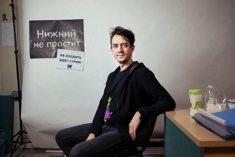 Oppositiepoliticus Aleksej Sadomovsky uit Nizjni Novgorod. Beeld Arthur Bondar