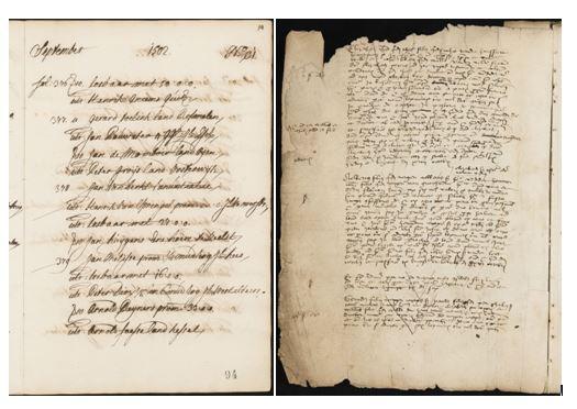 Pagina's  van het Bosch' Protocol. Papieren archief in het depot waar nog een locatie voor gevonden moet worden.