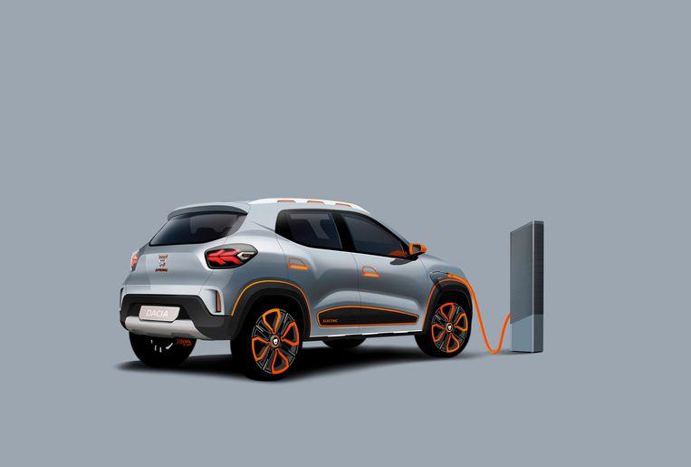 De goedkope elektrische stads-Dacia Spring. Beeld Dacia
