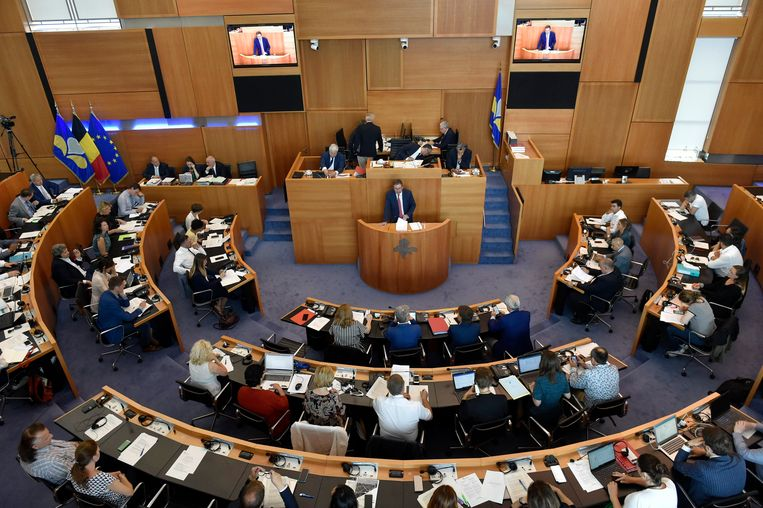 Archiefbeeld: Brussels Parlement met Rudi Vervoort die een speech geeft.  Beeld Photo News