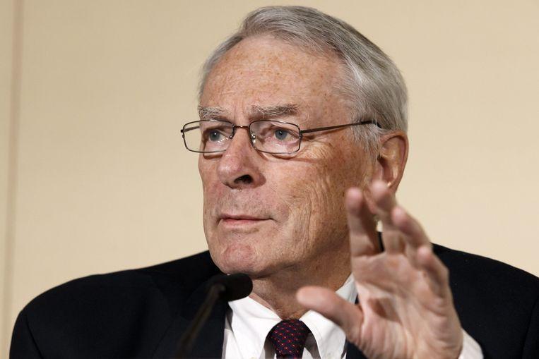 Richard Pound, de voorzitter van WADA. Beeld epa