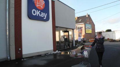 Burenruzie ontaardt in Okay-warenhuis: kerel rijdt vrouw aan met winkelkar en slaat haar man bewusteloos