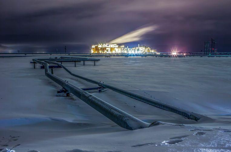 Een olieraffinaderij in Alaska. Beeld Getty Images/Cavan Images RF