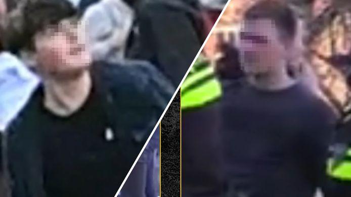 De getoonde verdachten van de rellen in het Sonsbeekpark in Arnhem op Koningsdag.