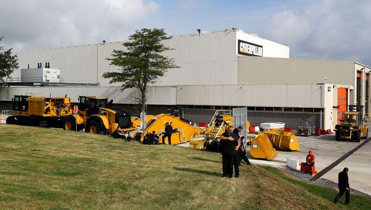 De fabriek van Caterpillar in Gosselies. Beeld BELGA