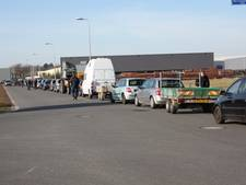 File voor gratis compost in Winterswijk