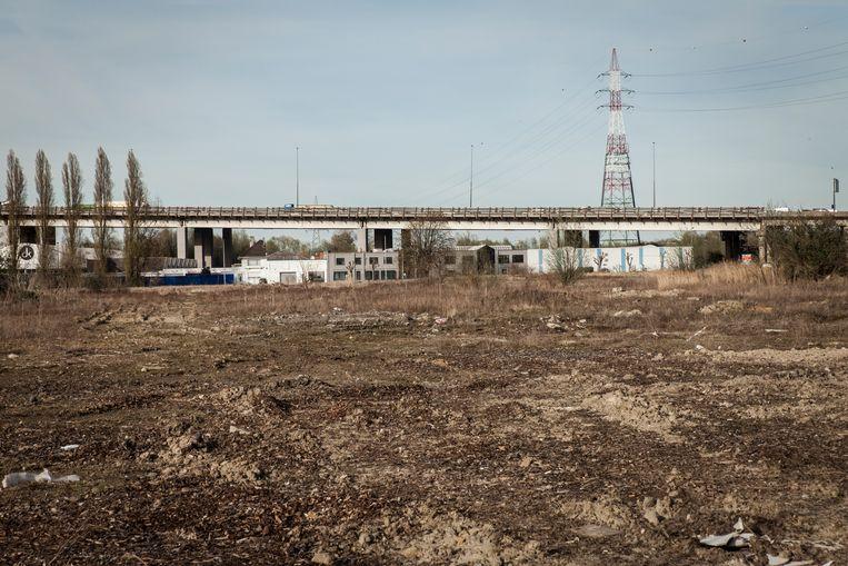 Nu ligt het gebied in Machelen er nog verlaten bij. Beeld Pieterjan Luyten