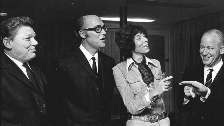 Renate Rubinstein in 1970 in het Haagse perscentrum¿Nieuwspoort. Beeld ANP