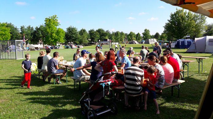 De buurtcamping in Nijmegen-Noord, drie jaar geleden.