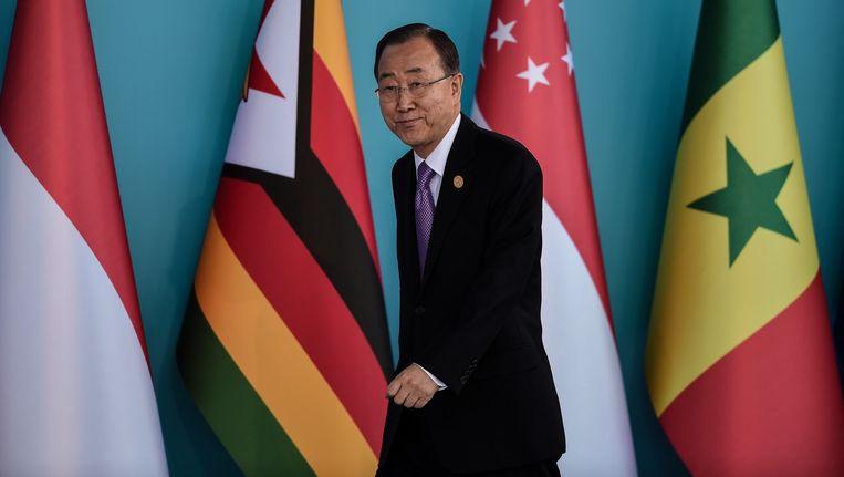 Secretaris-generaal Ban Ki-moon van de Verenigde Naties Beeld afp