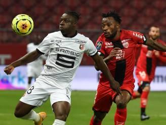 Jérémy Doku debuteert met korte invalbeurt bij Rennes, dat punten laat liggen in Dijon