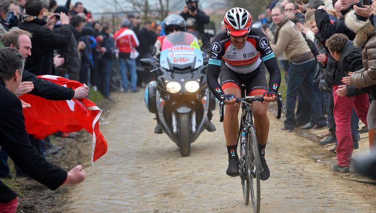 Fabian Cancellara tijdens de vorige editie van de E3 Harelbeke Beeld BELGA
