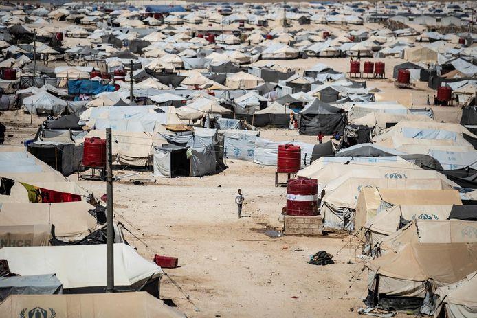 Het al-Hol vluchtelingenkamp in Syrië.