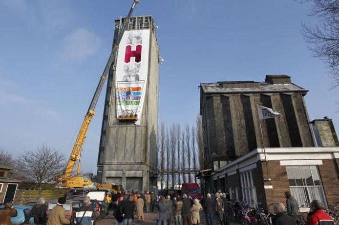 De silo's in het havenkwartier. Archieffoto Ab Hakeboom