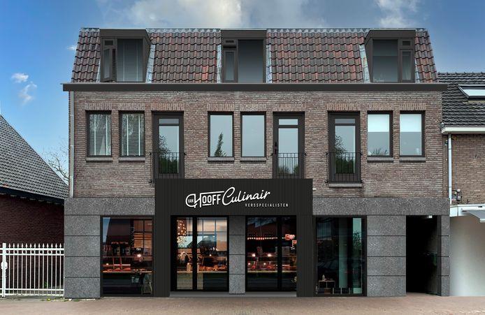 Een impressie van de nieuwe verswinkel van Frank van Hooff aan de Kapelstraat in Heeze.