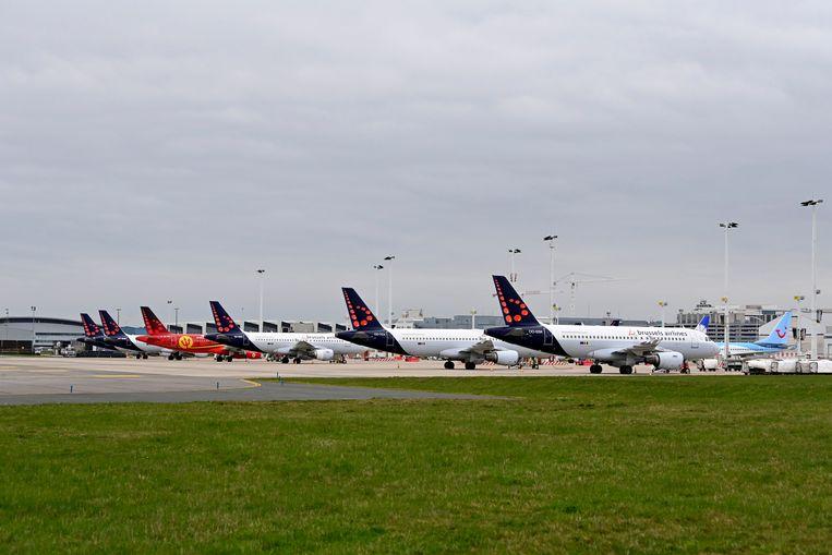 De luchthaven van Zaventem. Beeld Photo News