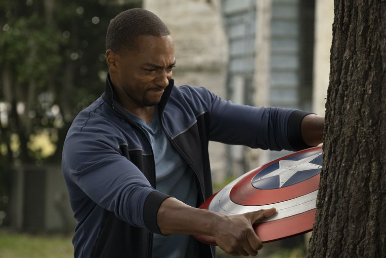 Sam Wilson (Anthony Mackie) in The Falcon and The Winter Soldier. Beeld