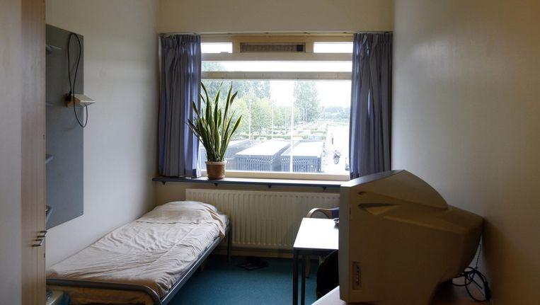 Een kamer alwaar TBS-patienten verblijven tijdens de nacht in tbs-kliniek De Kijvelanden. Beeld ANP