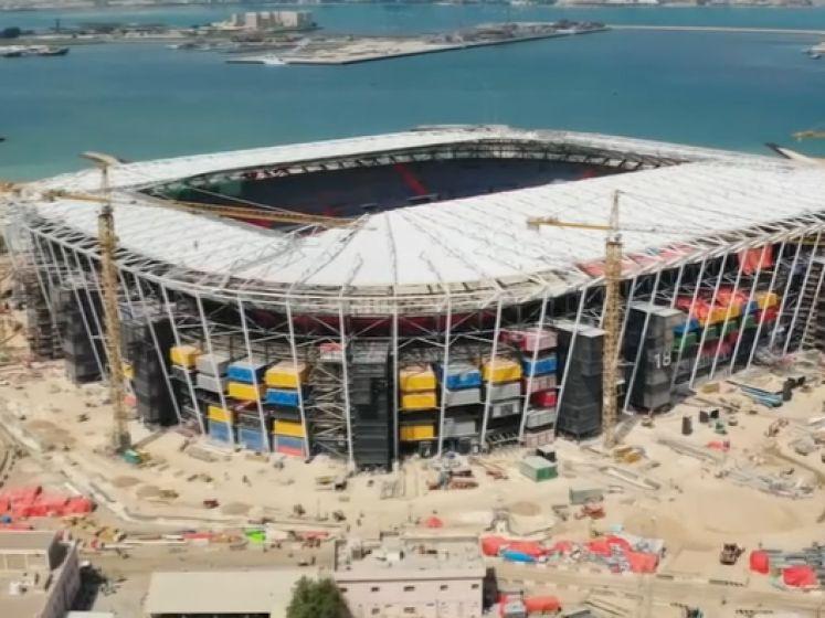 Scoort Lukaku op WK in Qatar in dit afbreekbaar 'containerstadion'?