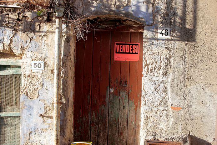Een huis staat te koop in Mussomeli.