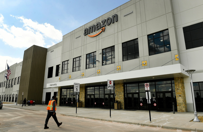 Een kantoor van Amazon in de Amerikaanse staat Colorado. Beeld AP
