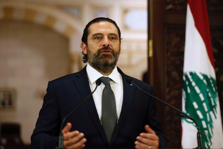 De Libanese premier Saad al-Hariri. Beeld REUTERS