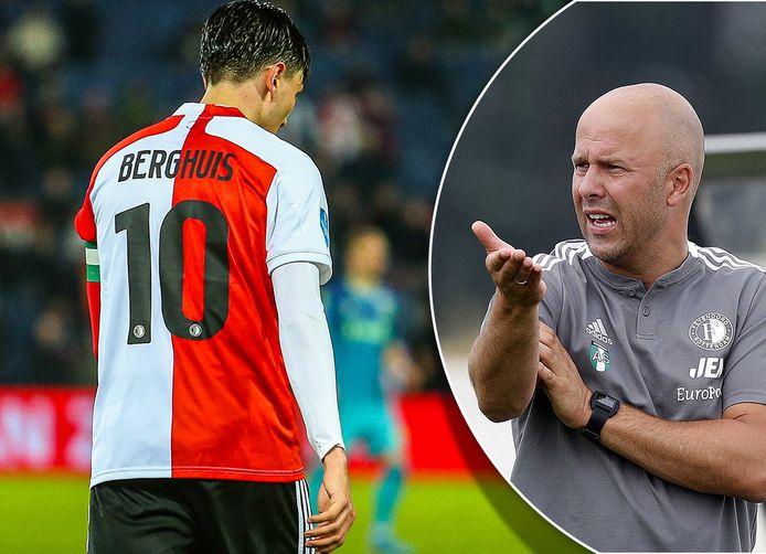 Arne Slot (r) moet op zoek naar versterkingen nu Steven Berghuis is vertrokken.