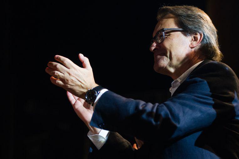 Wordt Artur Mas ook de nieuwe premier van Catalonië? Beeld GETTY