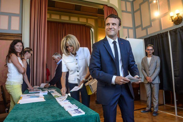 Emmanuel Macron. Beeld AFP