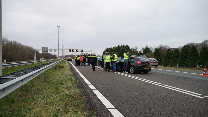 Niemand raakte gewond bij de kettingbotsing met zes auto's op de A1