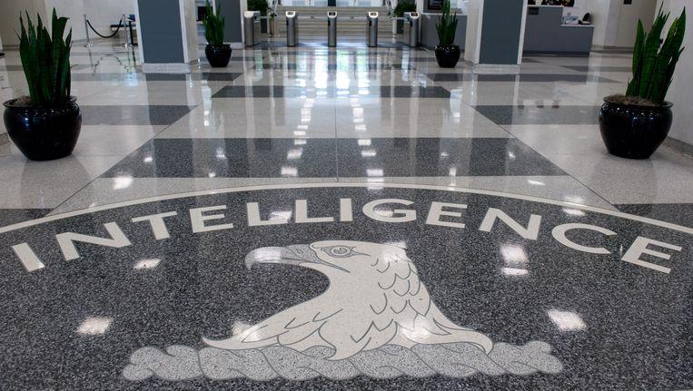 De toegangshal van het CIA-hoofdkantoor in Langley, Virginia. Beeld AFP