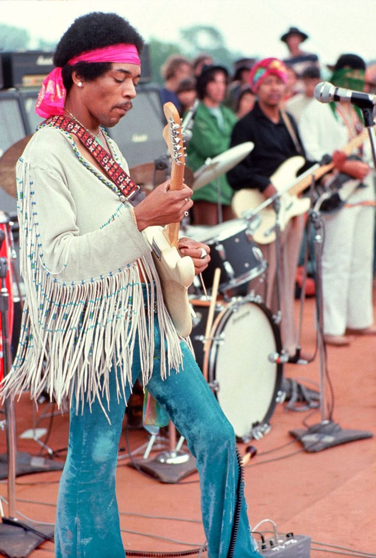 Jimi Hendrix in de documentaire 'Woodstock' (1970). Beeld AFP