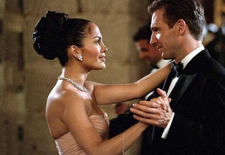 Jennifer Lopez en Ralph Fiennes in Maid in Manhattan van Wayne Wang. Beeld
