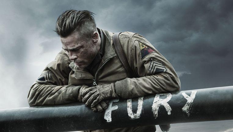 Brad Pitt speelt de sterren van de hemel in dit oorlogsdrama. Beeld RV