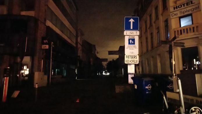 De Stationsstraat in Sint-Niklaas.