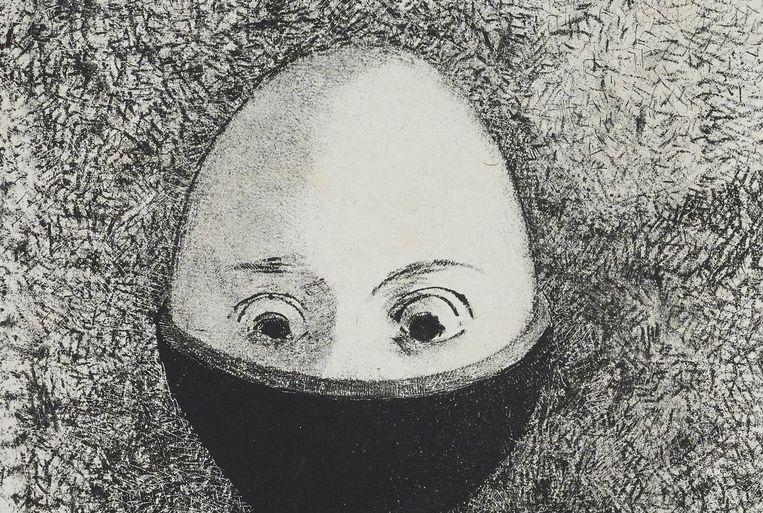 'Het ei', 1985. Beeld Odilon Redon, Kröller-Müller Museum