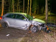 Jonge man onder invloed van alcohol rijdt in Putten auto de vernieling in