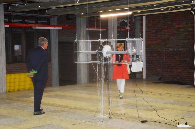Werk van Ninovieter Rik Moens in het RTT-gebouw.