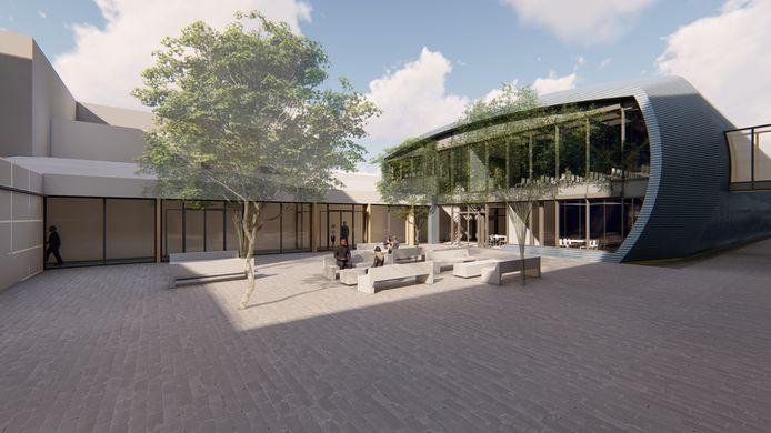 Impressie van het nieuwe simulatorcentrum van het Marin. Het ontwerp is van SW Architecten in Wageningen.