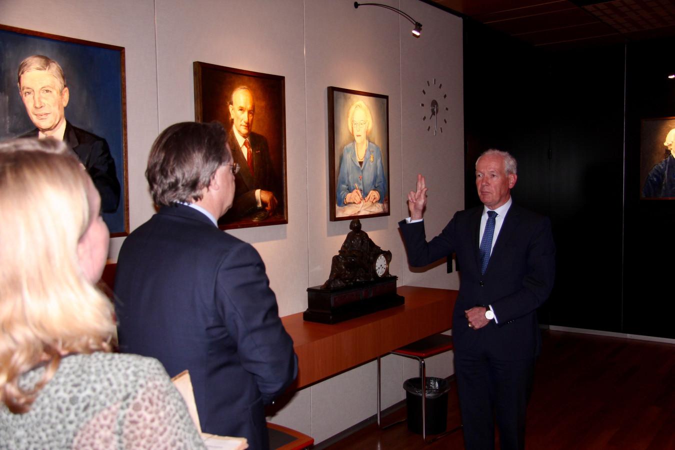Burgemeester Peter Maas legt de eed af