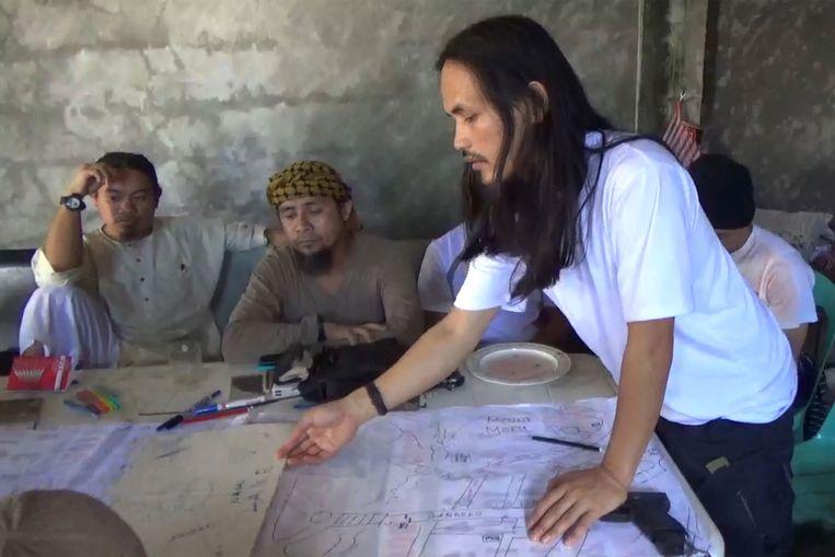Abdulah Maute en zijn 'leger' in Marawi.